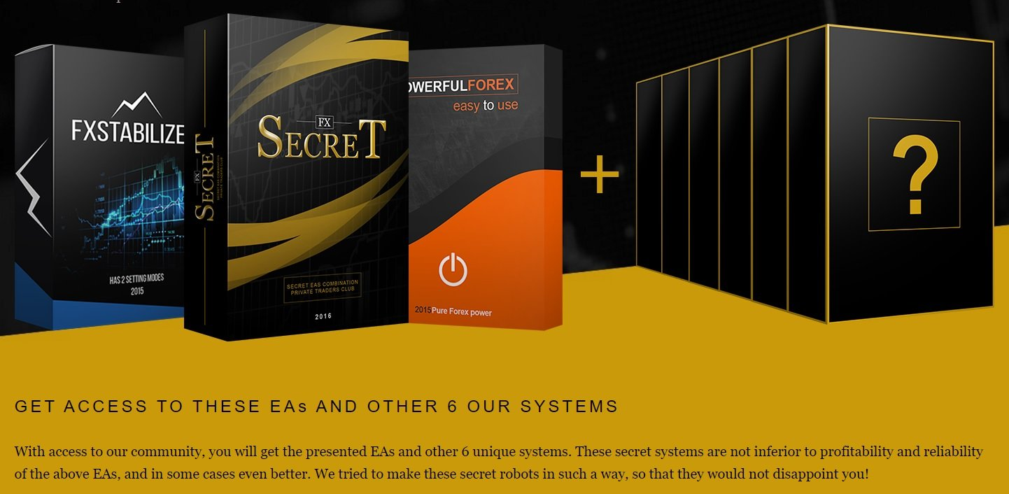 FX Secret EA Review - A Set Of 10 Highly Profitable Forex Expert Advisors And Package Of FX Robots Including FXStabilizer, FXCharger And PowerfulForex EA