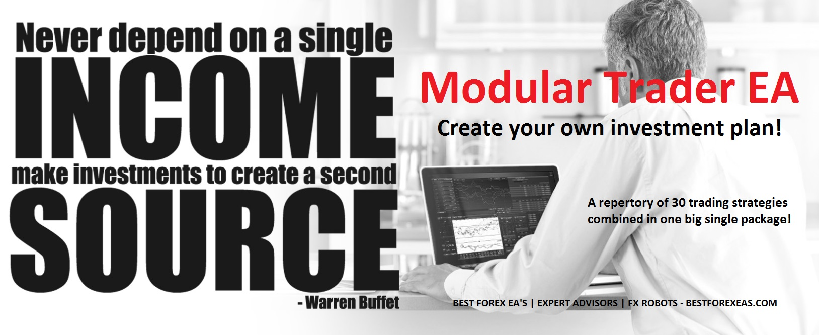 Modular Trader EA Review - 30 Trading Strategies For The Best Forex Expert Advisor For Metatrader 4 (MT4) And FX Trading Robot Created By Vladimir Antonov And His Accuracy Investment Group