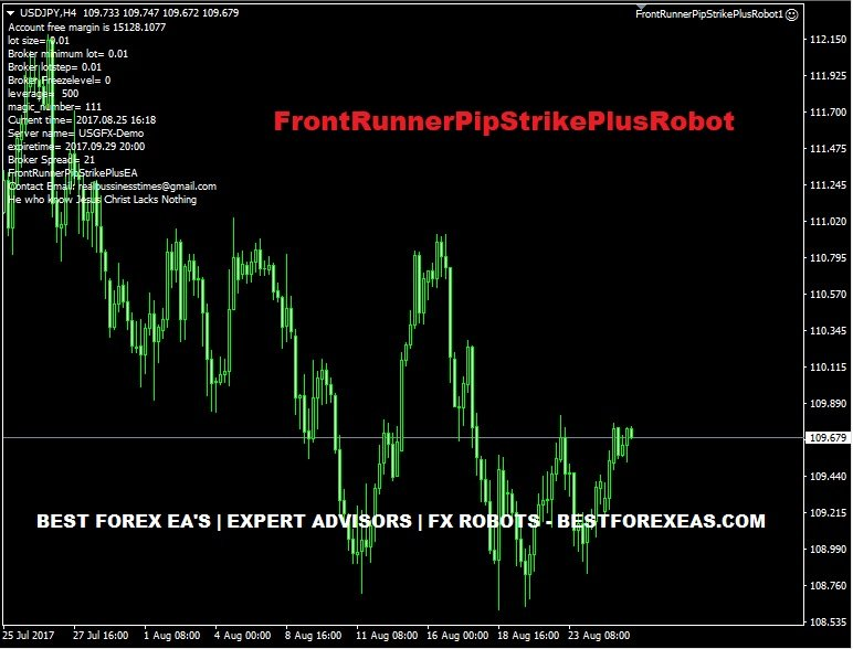 FrontRunnerPipStrikePlusRobot Review - Powerful Forex Expert Advisor For Metatrader 4 (MT4) Platform And Reliable FX Trading Robot Created By Joshua Obiekwe Chukwudi