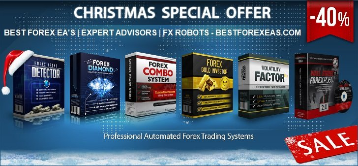 Christmas Special Offer - 40% Off Sale - Best Forex EA's - Expert Advisors | FX Robots at discounted price